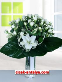 cam-vazoda-beyaz-gul-lilyum-212x282 İşyeri İçin Çiçek